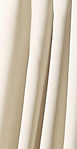 Gardine BLICKDICHT Verdunklungsgardine mit Kräuselband und versteckten Schlaufen, Thermogardine, Verdunklungsvorhang ,-lichtundurchlässig- HxB 245x135 cm, Farbe creme TOP QUALITÄT Typ139