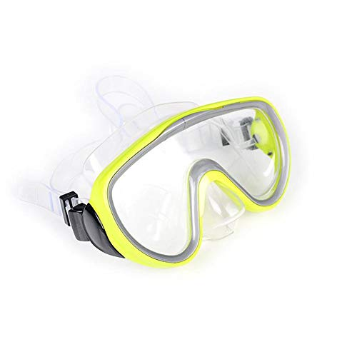 Erwachsene Große Professionelle Rahmentauchen Silikon Maske High Definition Schnorcheln Tauchbrille Ausrüstung Männer Frauen,Gelb