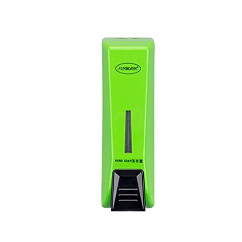 Precision Clean Refills (RLJJCS Seifenspender Handmontierte Chromwasserpumpe zur Wandmontage für Bad-Shampoo-Duschgel oder Handreinigungsmilchbox 350 ml Händedesinfektionsbox (Color : Green))