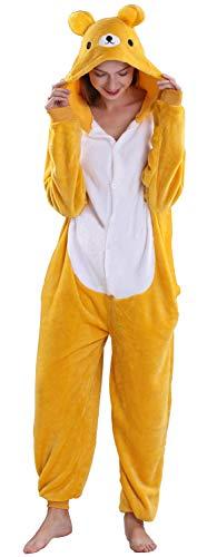 Yimidear Unisex Adult Pyjamas Cosplay Tier Onesie Nachtwäsche Nachtwäsche, Easily Bear, S
