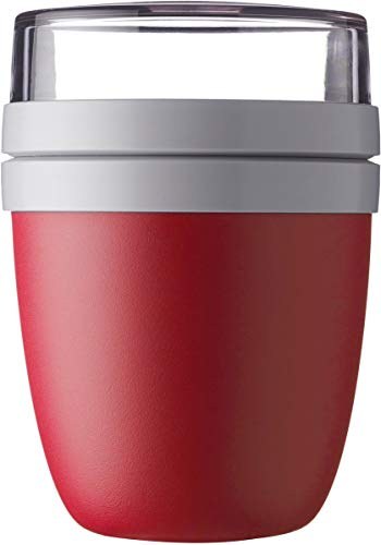 Mepal Rosti Lunch Pot Ellipse, Rot (Nordic Red)