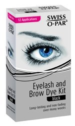 Swiss O.Par Long Lasting Eyelash And Brow Dye Kit-Black