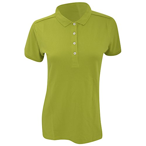 Russell - Polo stretch à manches courtes - Femme Vert citron