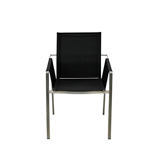SIT Mobilia Gartenstuhl Real Edelstahl in schwarz 30INX14-201