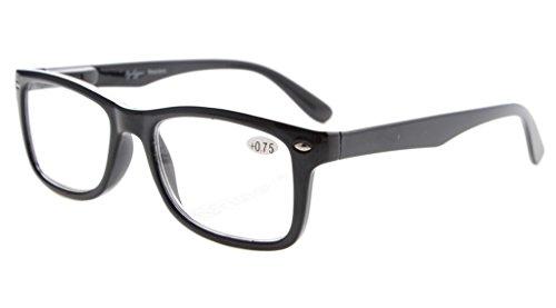 Eyekepper Leser Federscharniere Qualität klassischen Vintage Stil Lesebrille Schwarz+0.75 -