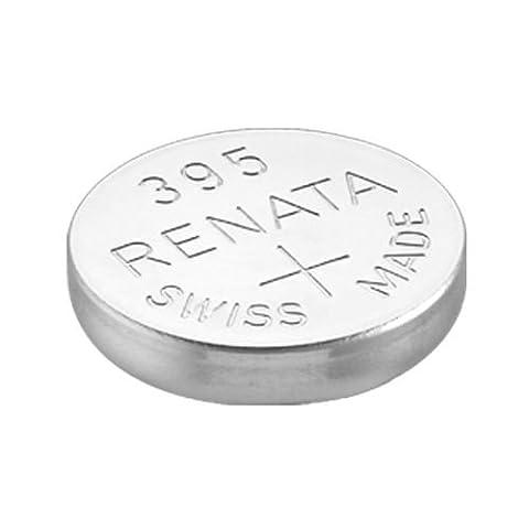 2 x Renata Wrist Watch battery - Swiss Made - Batteries Cells Silver Oxide 0% Mercury Free Button Cell 1.55v Renata Long Life Batteries (395 (SR927SW))