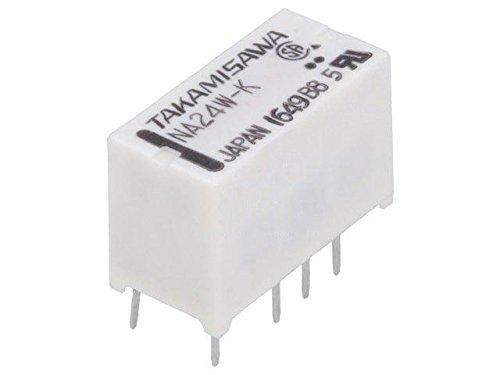 NA-24W-K Relay electromagnetic DPDT Ucoil24VDC 0.5A/125VAC 1A/30VDC -