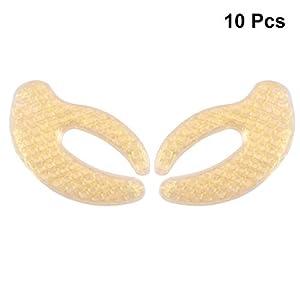 Frcolor 10 Pairs Hyaluronsäure Augenmasken Feuchtigkeitsgel Pads für Unter Augen Falten Geschwollene Augen Augenringe für Frauen Männer