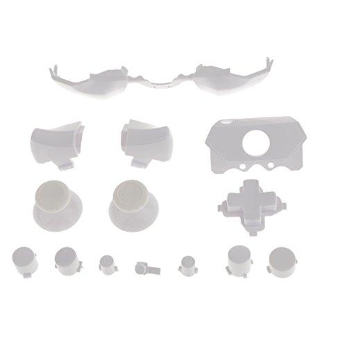 Preisvergleich Produktbild MagiDeal Erstaz Tasten Knopf Set Stoßfänger Trigger Mod für Xbox One Controller Videospiel Zubehör - Weiß
