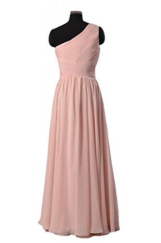 daisyformals Vintage Longueur au sol robe pour soirée déguisée une épaule robe de demoiselle d'honneur en mousseline (bm351l) Violet - #2-Byzantium
