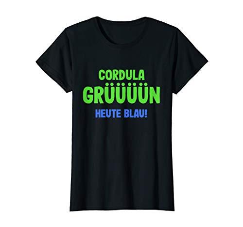 Damen Apres Ski TShirt Skifahren Partnerlook Cordula Grün T-Shirt