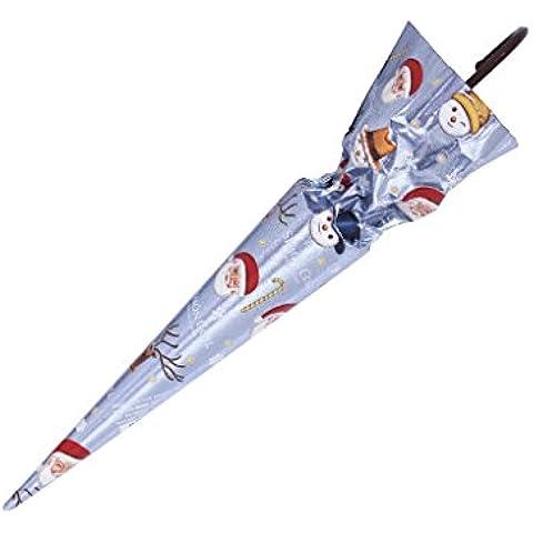 Paraguas de chocolate - Motivos navideños - Azul