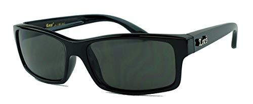 LOCS® Sonnenbrille Biker Brille für Herren West Coast Style MODELLWAHL LCV (El Jefe/Glossy Black)