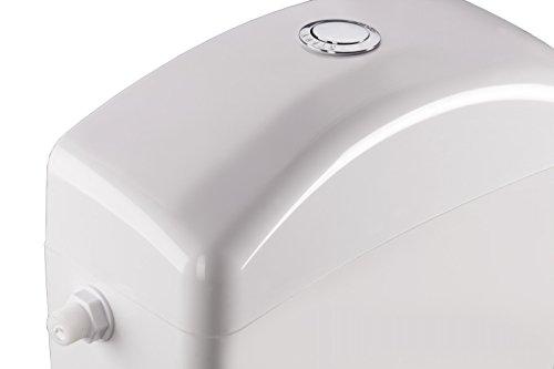 Weiße Kunststoff-Low-Level-WC Bad Spülkasten Tank verchromtem Druckknopf