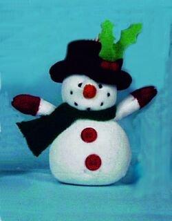 Weihnachtsdekofigur aus Plüsch, aufziehbar, versch. Motive, Weihnachten, Dekoration (Schneemann) (Schnee Tanz Kostüm)