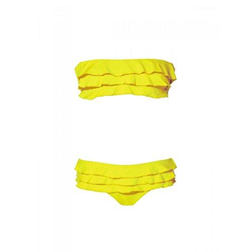 OndadeMar Damen Bikini-Set, Einfarbig Gelb