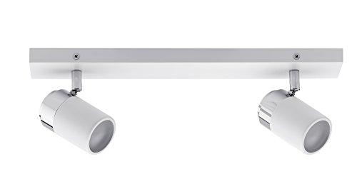 Paulmann 66711 Spotlight Zyli IP44 max 2x10W GU10 Weiߟ/Chrom 230V Metall 667.11 Deckenleuchte Lampe LED Deckenlampe Deckenstrahler