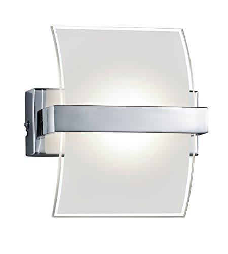 Trio 227410106 Serie 2247 - Aplique, bombilla incluida, COB, LED, 5 W, 390 lm, 3000 K, 230 V, A+, IP20, 18 x 16 cm, metal, cromo