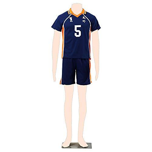 Dream2Reality Haikyu!! Cosplay Kostuem Karasuno Jersey 5 Kid - Dream2reality Kostüm