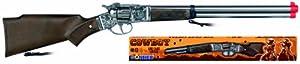 fancy dress warehouse- Rifle 8 Tiros - Plata, Color Beige, One Size (Desconocido 98/0)