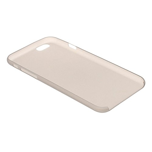 wkae Schutzhülle Fall & 0,3mm ultradünne Polycarbonat Material PC Schutz Shell für iPhone 6Plus, transparent Version/matt Edition grau