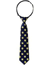 Retreez Happy Smiley Face Emoticon Woven PRE-TIED Boy de corbata–varios colores