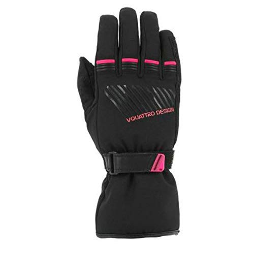 V'QUATTRO DESIGN Core Lady 17Guanti–I Touch- Black/Pink