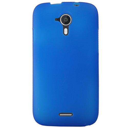 Mocca Design Gel Frost Schutzhülle aus Silikon für Wiko Darknight, Blau