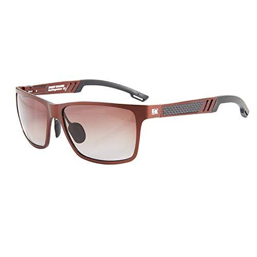 Jimmy Orange gespiegelt, Aluminium, Magnesium, polarisierte Sonnenbrille Wayfarer Sonnenbrille Frauen JO661 hochwertige(Braun rahmen und braun objektive)