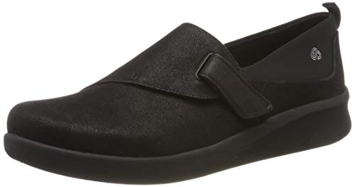 Clarks Sillian2.0ease, Mocasines para Mujer, Negro Black Synthetic, 39 EU