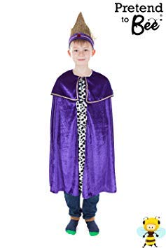 King Caspar (Purple) - Kids Costume GS 7-11 ()