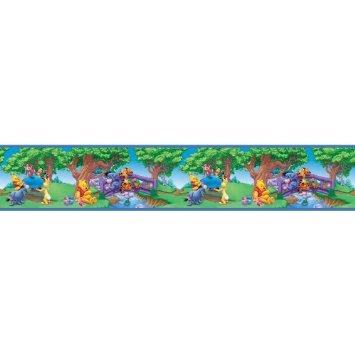 Blue Mountain Wallcoverings Disney Wandbordüre, selbstklebend, Blauer Berg, 3 Packungen - ca. 45 m