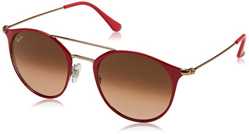 RAYBAN Unisex-Erwachsene Sonnenbrille 0RB3546 907271, Rot (Copper On Top Red/Pinkgradientbrown), - Ray-ban-brillen-made In Italy