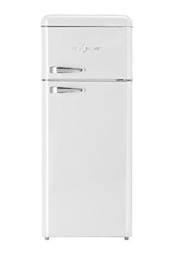 FIVE5Cents G215W / SL 208 /Kühlgefrierkombination/Weiß glänzend/Retro/Kühlschrank/KÜHL-GEFRIERKOMBINATION/Rippenlos