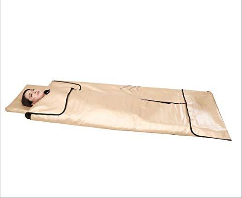 MEYLEE Tragbare Infrarot-Therapie Sauna Blanket Negative Ion Sauna Blanket w/3 Zonen, Spa beheizte Sauna Blanket (Low EMF) -
