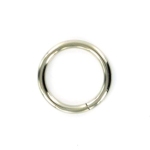 Bulk Hardware bh05172 Gardinen Stange Ring Metall Nickel gebürstet Innen Dimension 25 mm, Set 12 Stück (Gardinenstange Nickel Gebürstet)