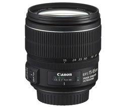 Canon EF-S 15-85mm f/3.5-5.6 IS USM - Objetivo (SLR, 17/12, Zoom estándar, Ring USM, Canon EOS 300D, EOS 350D, EOS 400D, EOS 450D,