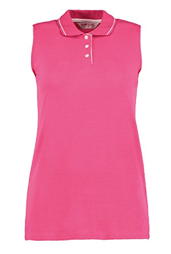 New GAMEGEAR Womens Ladies Golf Proactive Sleeveless Polo Shirt Raspberry/White Size 10
