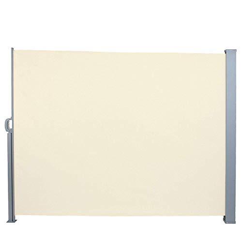 Jago Tenda da sole paravento frangivento grandezza e set a scelta avvolgibile in poliestere 300 x 160 cm colore beige