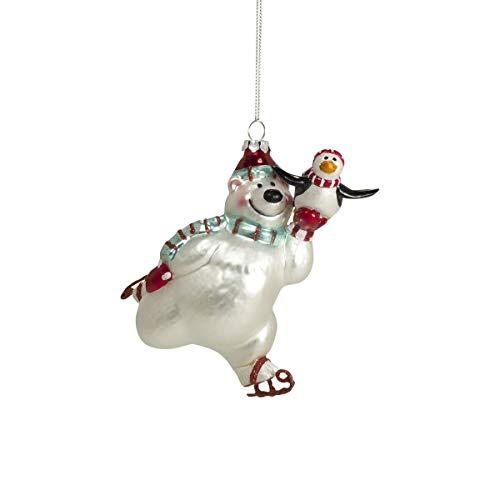 Mea Living Crazy Weihnachtskugel Eisbär mit Schlittschuhen