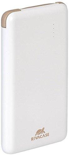 "RIVACASE 8000mAh Ultra Slim Powerbank \""Rivapower VA2008\"" externes Akku Ladegerät mit integriertem Micro USB Kabel, Zusatzakku für Smartphones und Tablets"