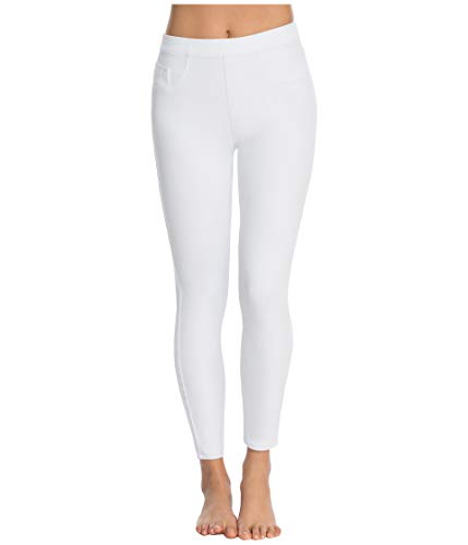 Spanx Spanx Womens Indigo Knit Cropped Leggings with Inner Mesh Shaping Panty