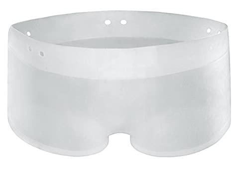 Transparente Silikon Rubber Badehose Short elastisch wie Gummi oder Latex Größe L