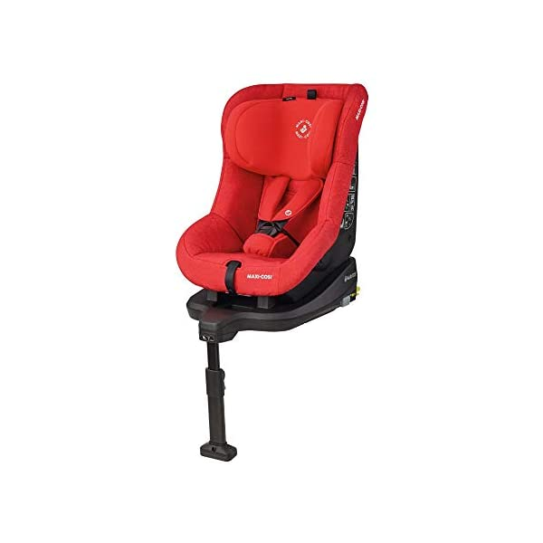 Maxi-Cosi TobiFix Toddler Car Seat Group 1, Forward-Facing ISOFIX Car Seat, 9 Months-4 Years, 9-18 kg, Nomad Red Maxi-Cosi Seat fits solid and secure using the car's isofix Very easy adjustment of safety harness and headrest height 3 comfortable recline positions from sitting to sleeping 1
