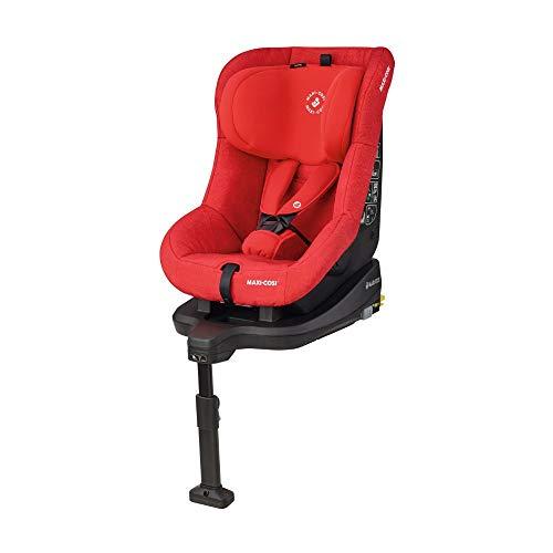 Maxi-Cosi TobiFix, Kindersitz mit fünf komfortablen Sitz- und Ruhepositionen + mit ISOFIX, Gruppe 1 Autositz (9-18 kg), nutzbar ab 9 Monate bis 4 Jahre, nomad red