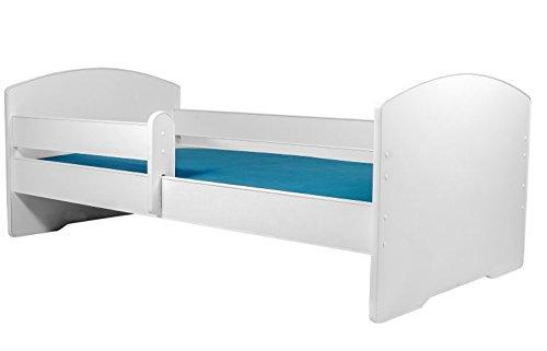 La cama infantil luk BLANCO cama para niños infantil el tamaño 160x80 con el colchón
