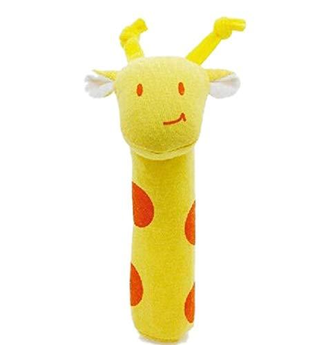 WYBL Giraffe Baby Bett Rassel Spielzeug Tier Form Design Baby Kinder Plüsch Spielzeug Neugeborene Kinder Pädagogische Baby Rassel Spielzeug (Große Giraffe-kissen-haustier)
