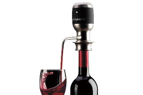 vinaera weltweit erste elektronische Wein & Spirit Luftsprudler/Spender 750ml Silber Schwarz von vinaera
