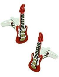 MasGemelos - Gemelos Guitarra Eléctrica Roja 3D Cufflinks
