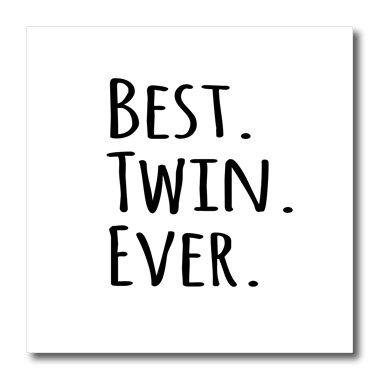 3dRose HT 151545_ 2Best Ever Geschenke für Twin Brüder oder Schwestern Geschwister Eisen auf Wärmeübertragung, 6von 6 (Twin Schwester Geschenke)